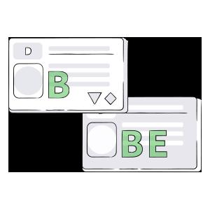 Führerscheinklasse B und BE